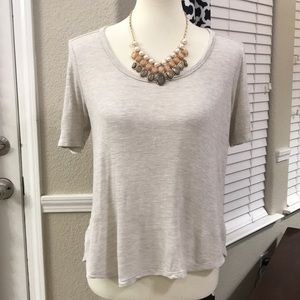 Madewell oatmeal top size small